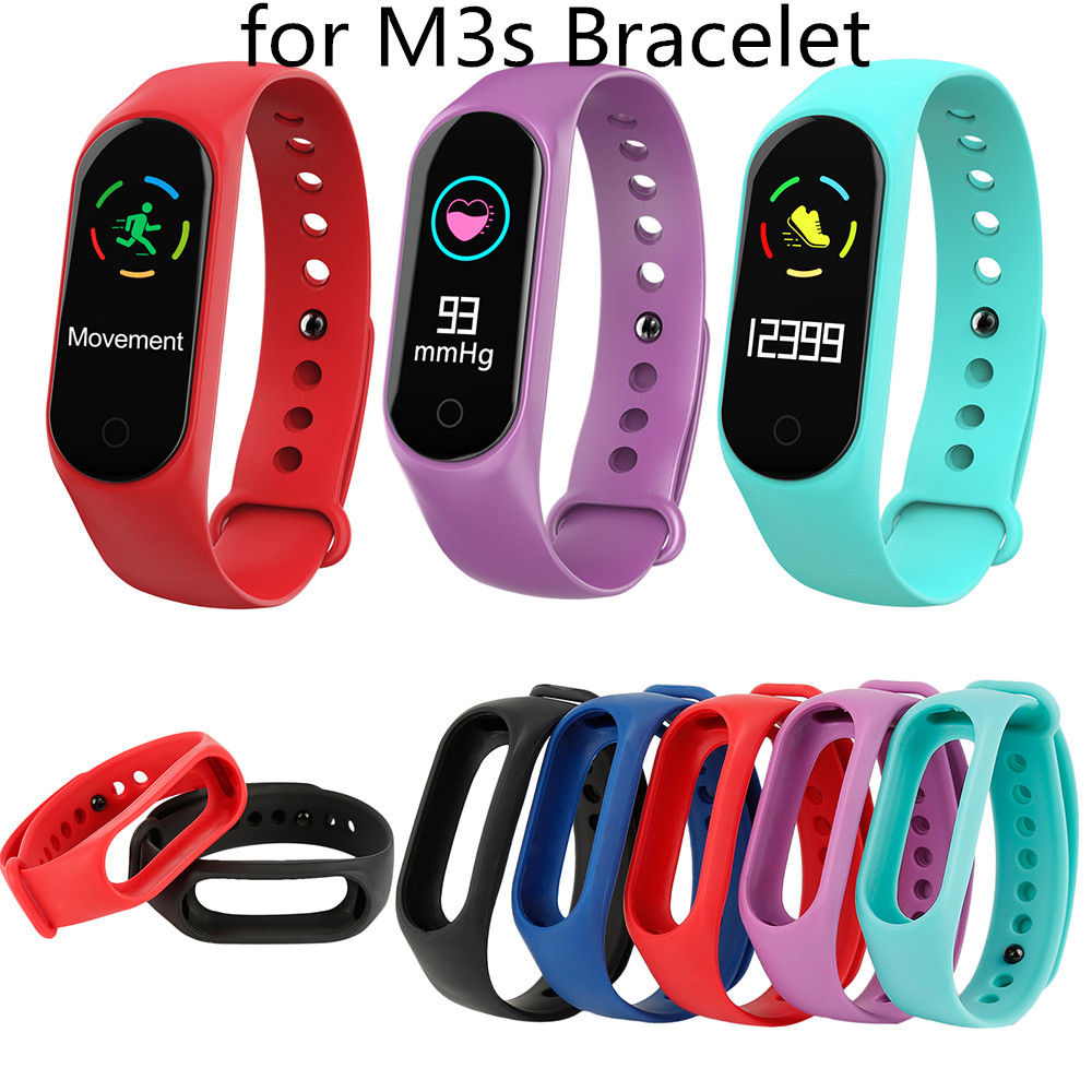 Colorful Fitness Watch Sport Edition Strap For M3S Smart Watch Replacement Wrist Strap For Silicone Smart Bracelet Accessories