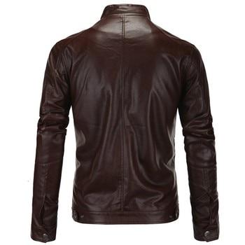 Men's Genuine Leather Jacket For Motorcycle Fashion Zipper Autumn Winter Slim Fit Italian Vintage Business Male Black Brown Coat