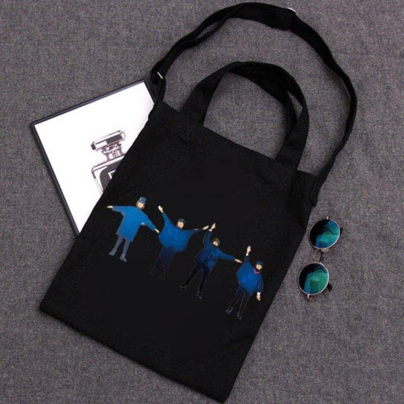 Ladies Handbags Cloth Canvas Tote Bag Cotton Shopping Women Eco Reusable Shoulder Shopper Bags Bolsas Ecologicas Reutilizables
