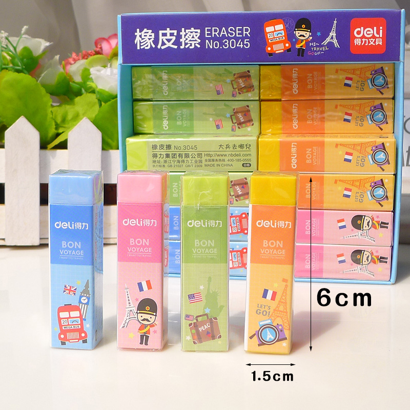 XGZ 36pcs Color Fashion Eraser Super Soft Rubber  Bar  Easy To Wipe Without Damaging Paper Student