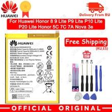 Hua Wei Оригинальная батарея для телефона HB366481ECW для huawei honor 8 honor 8 lite honor 5C Ascend P9 huawei P10 P9 Lite G9 3000 мАч