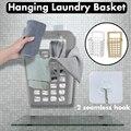 Бытовые часы с чашкой на присоске для ванной  подвесная корзина для хранения грязной одежды  пластиковая корзина для белья среднего размера...