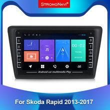 Autoradio Android IPS, Navigation GPS, WIFI, BT, lecteur multimédia vidéo, 2din, pour voiture Skoda Rapid 2013, 2014, 2015, 2016, 2017, 2018, 2019