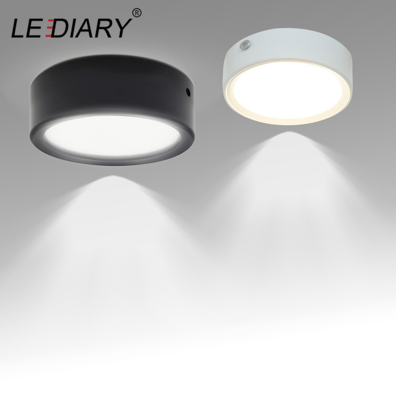 LEDIARY Surface Mounted LED Downlight 3W 5W 7W 10W 220V Ceiling Lamps Ultra Thin Driverless LED Spot Lights Book Rack Lighting