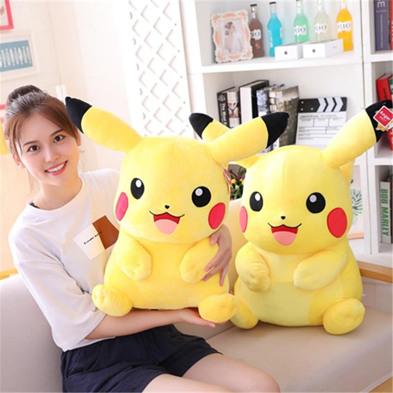 10-55CM Hot Sale Cute Cartoon Pikachu Plush Toy High Quality Cute Anime Plush Toy Children Gift Toy Children Cartoon Pikachu Plu