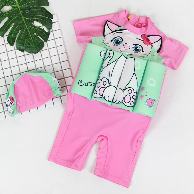 Korean-style New Style Men And Women Baby Fu Li Yi Infants Children One-piece Cute Cartoon Medium-sized CHILDREN'S Swimsuit