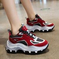 Women Chunky Sneaker 2019 Retro Women Vulcanize Shoes Femme Platform Sneakers Trainers Casual Shoes Woman Brand Autumn Sneakers