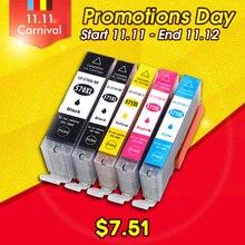 цена на 5pk Ink Cartridge Compatible for Canon Pixma MG5750 MG5751 MG5752 MG5753 MG6850 MG6851 MG6852 MG6853 Printers PGI 570 CLI 571 XL