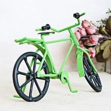 Retro Nostalgia Multicolor bicicleta modelos de artesanías de Metal escultura Vintage decoración del hogar decoraciones del niño regalo de cumpleaños