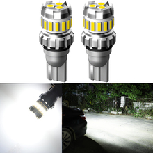 car led lights 2x white canbus led door courtesy lights for vw touareg tiguan skoda roomster audi a3 q5 AUXITO 2x W16W T15 LED Canbus Error Free Bulb Car Backup Super Bright Reserve Lights For VW Touran Polo Bora Tiguan Caddy CC GTI
