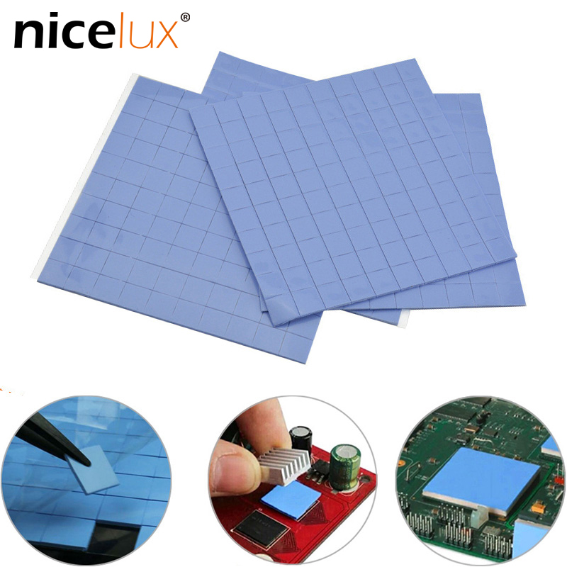 GPU CPU Thermal Pad Double Side Adhesive Heatsink Cooling Conductive Silicone Pad Computer Host Radiator Heat Transfer Tape