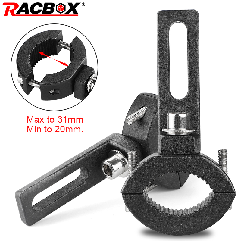 Racbox Motorcycle Headlight Mount Bracket Head Light Lamp Holder Adjustable 20mm-31mm Fork Mount Clamp
