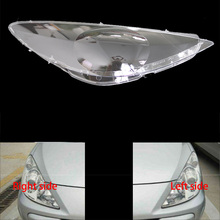 For Peugeot 307 08 13 front headlamps transparent lampshades lamp shell masks headlights cover lens Headlight glass