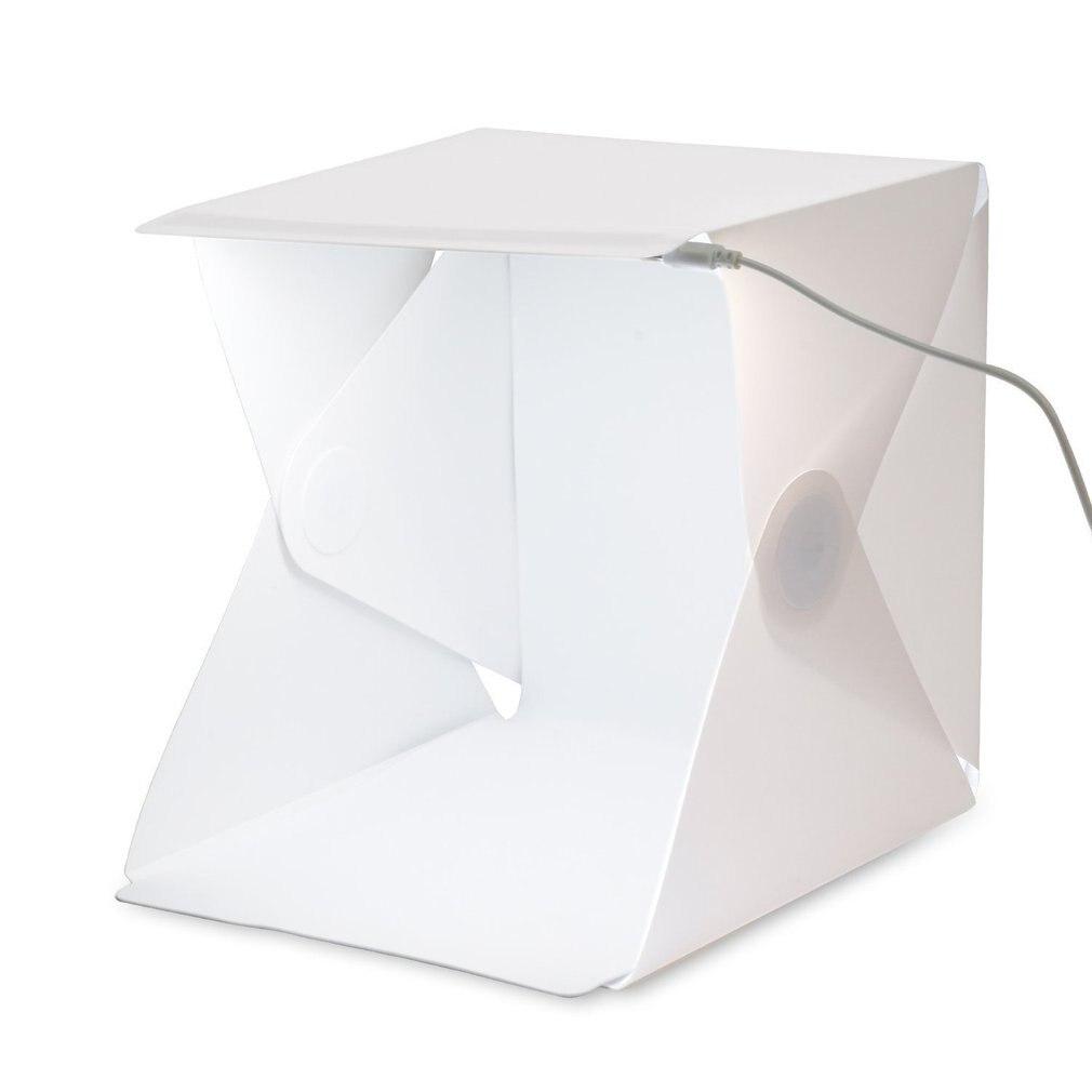Студийный 20 см портативный складной светодиодный студийный мини-фотобокс реквизит для фотостудии с usb-кабелем