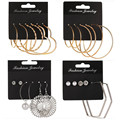 Heart Hoops Earring For Women Big Small Round Circle Earrings Ear Rings Set Creole Gold Silver Color