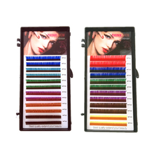 THINKSHOW C D 0.07 & 0.10 Rainbow Colored Eyelashes Beautiful Colorful Individual Makeup Party Lashes Extension