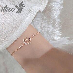 ITESO 2020 New Crystal Moon Dangle Charm Bracelets Trendy Little Prince Bracelet For Women Fine Jewelry Girlfriend Gifts