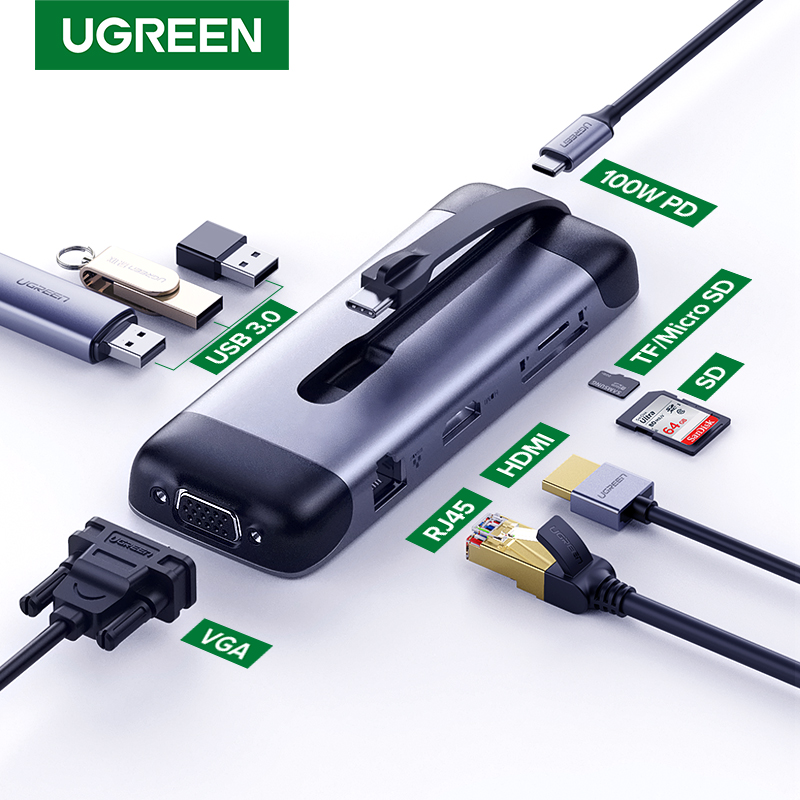 Ugreen USB C HUB Portable Type C To Multi USB 3.0 HUB HDMI Adapter Dock For MacBook Pro Air USB-C 3.1 Splitter Port Type C HUB
