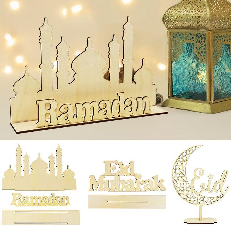 EID Mubarak Holz Anhänger Eid Mubarak Ramadan Dekoration Für Startseite Islamischen Muslimischen Partei Liefert Kareem Ramadan Eid AL Adha Deco