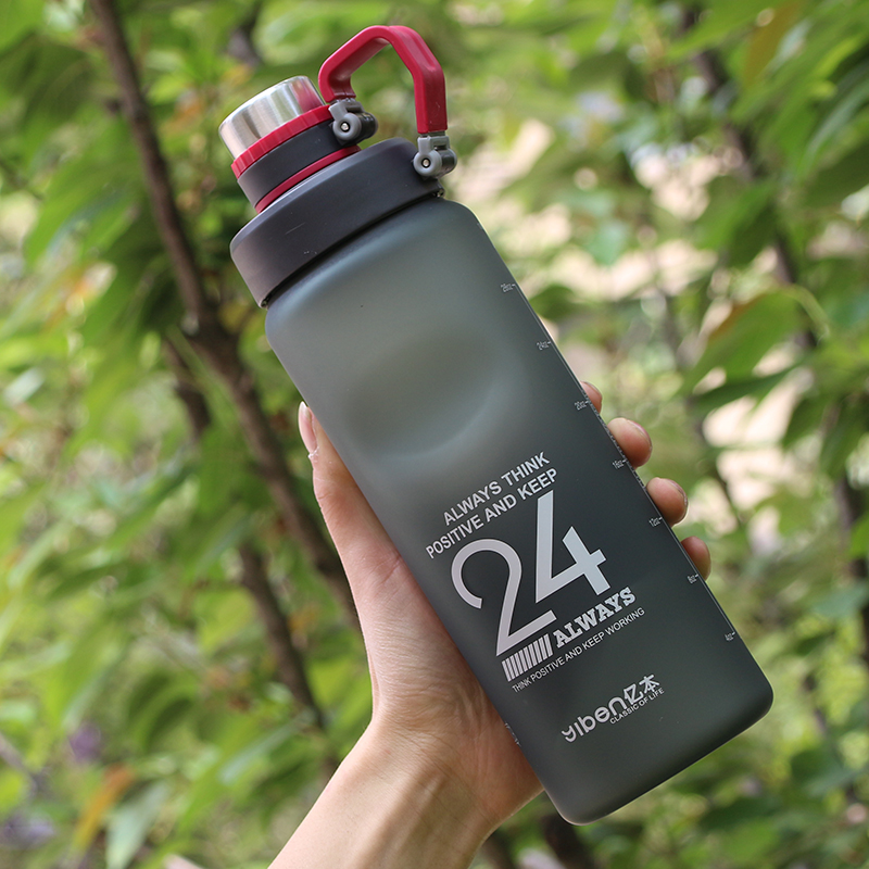 Kettle 850ML Large Capacity Plastic Water Dispenser Travel Student Outdoor Sports School Portable Scrub Leak Cup Drinking Bottle