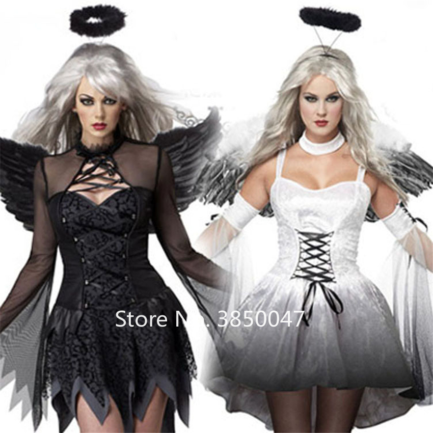 Scary Vampire Cosplay Costumes <font><b>Halloween</b></font> Gothic Ghost Bride Bandage Dress Day of The Dead Party Carnival <font><b>Sexy</b></font> Zombie Clothing image