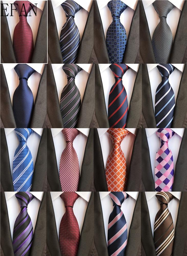 Classic 8cm Ties For Man 100% Silk Tie Luxury Striped Plaid Checks Business Neck Tie For Men Suit Cravat Wedding Party Neckties