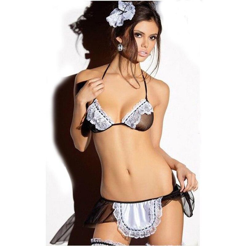 Hot Sheer Naughty Maid Uniform 2