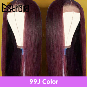 Image 5 - Brazilian Straight Lace Closure Human Hair Wigs 8 24 Inches Pre Plucked with Baby Hair 4x4 Closure Wig 150% Remy Human Hair Wigs