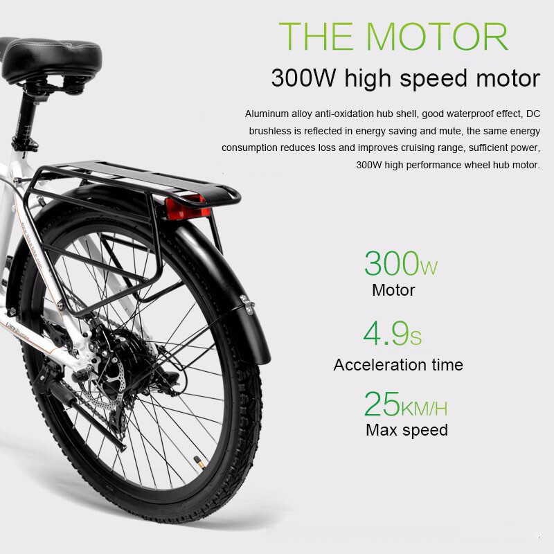 Top 26inch Electric mountain bike 36V lithium battery travel electric bicycle lighweight Ebike 2