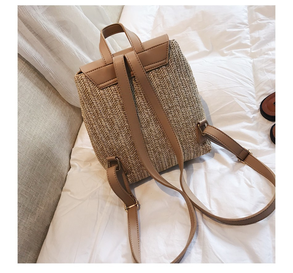 H0779625b7e2344d3b7f1edb35158b294R Herald Fashion Straw Woven Backpack Women Back Pack Autumn Teenage Girl Quality Backpacks Travel Bags Kawaii Rucksack Drop Ship
