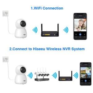 Image 3 - Hiseeu cámara IP de seguridad para el hogar, dispositivo inalámbrico de Audio bidireccional, con tarjeta SD de seguimiento automático para sistema de cámara inalámbrica, 1080P 2MP