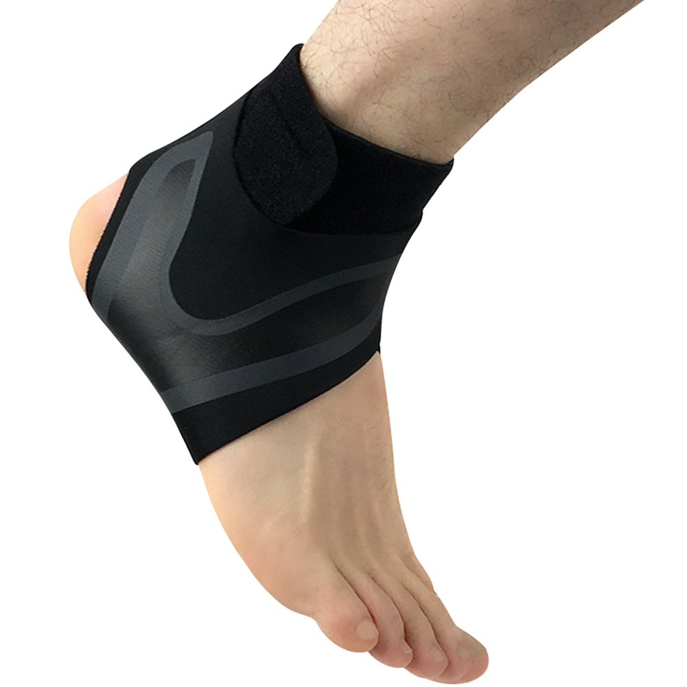 Black Prevent The Sprain Moisture Wicking Lightweight Cycling Football Basketball Sports Supplies Ankle Support Elastic Stretch