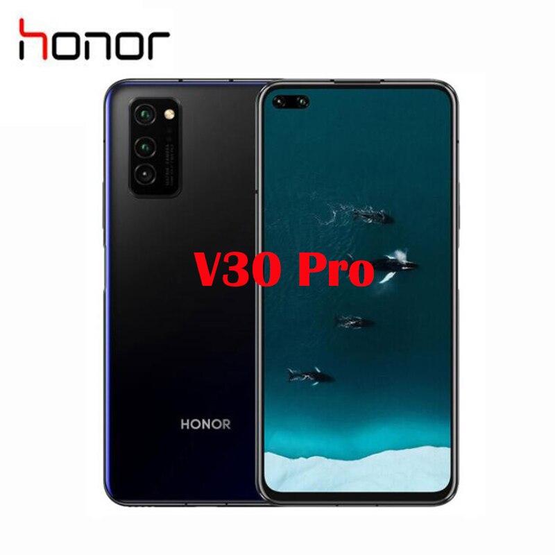 "Oficial Original nuevo Honor V30 Pro Smartphone 6,57 ""Kirin 990 5G Octa Core Android 10 NFC 4100mah de carga inalámbrico"