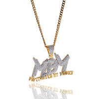 High Quality Men Hip Hop Pendant Necklace MBM Letter necklace Motivated By Money CZ Metal Tennis Chain Jewelry#SW40