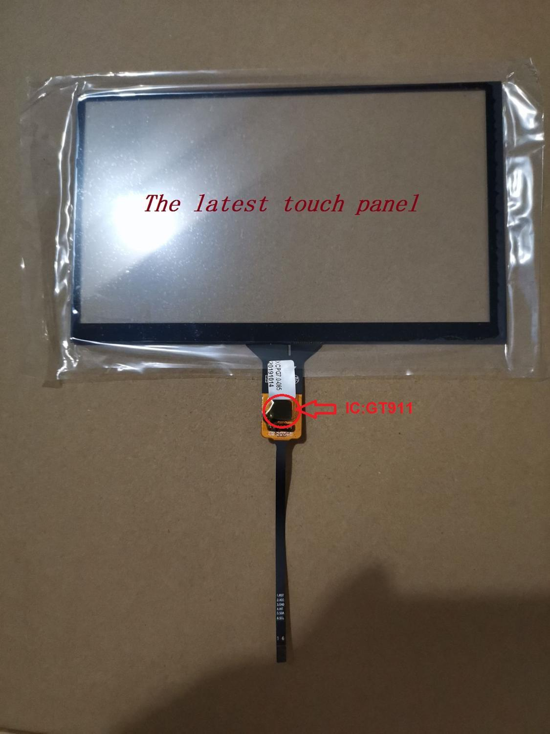 IC:GT911 7 Inch Capacitive Touch Screen For Car DVD Navigation 164mm*99mm 6pin Universal Touch Screen