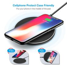 10W Qi Wireless Charger for Samsung for Galaxy S10 S9/S9+S8 USB Wireless Fast Charging Pad for iPhone 11 Pro XS Max XR Cellphone 10w fast wireless charger for samsung galaxy s10 s9 s9 s8 note 10 usb qi charging pad for iphone x xs 8 xiaomi