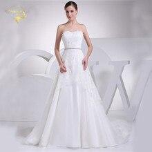 Jeanne Love New Perfect Wedding Dresses 2017 Casamento Bridal Gown Tulle Robe De Mariage Vestido Novia JLOV75916 Belt