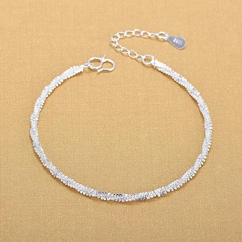 2020 new models Free Shipping Top Quality Wholesale Silver Bracelets 925 Fashion Bracelets Fine Fashion Bracelet Anklet