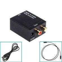 EDD Digital Optical Toslink SPDIF Coax to Analog L/R RCA Audio Converter Adapter