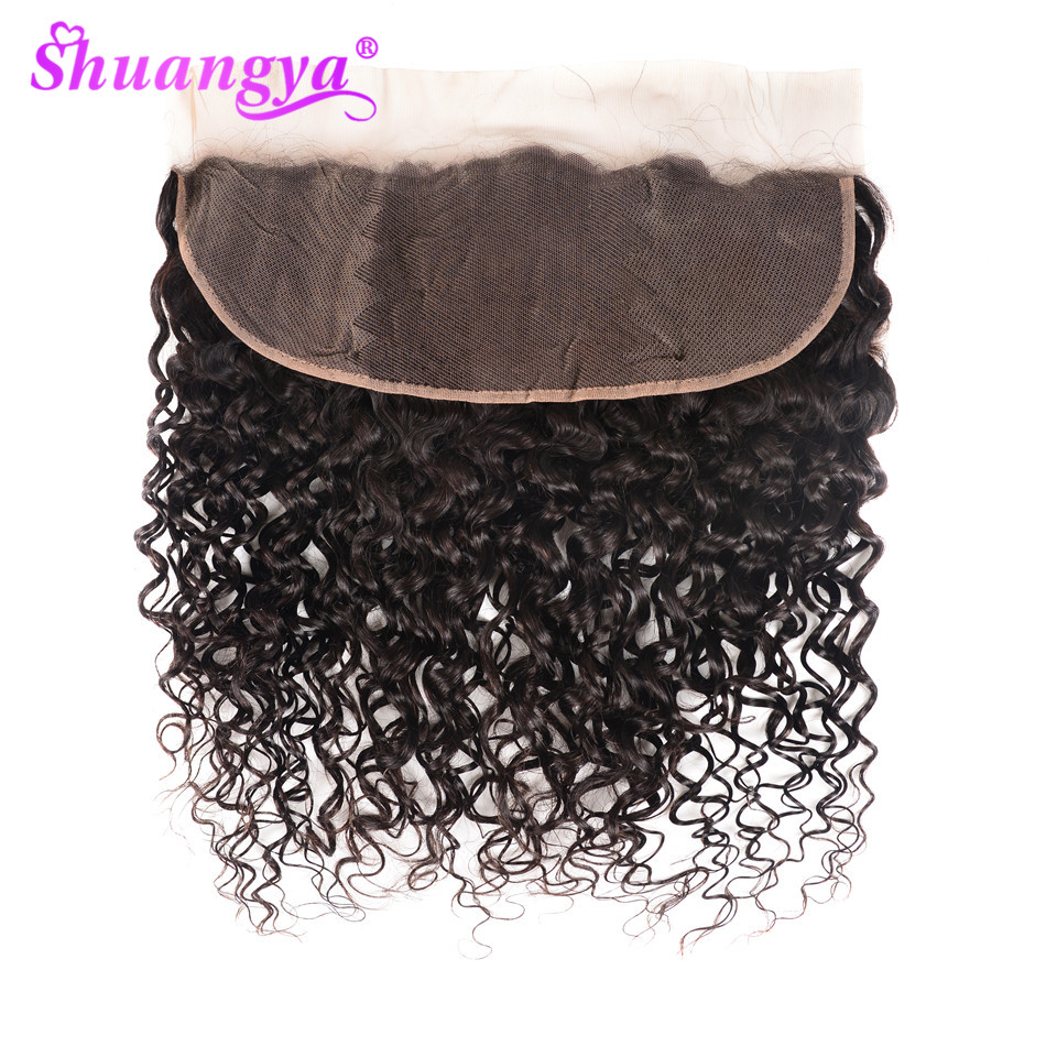 Water Wave Frontal Closure 8-20 Inch Lace Frontal Closure 100% Human Hair Closure 13x4/13x6 Lace Frontal Remy Hair Shuangya Hair