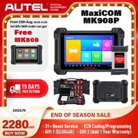 Autel maxicom mk908p scanner de diagnóstico do carro ecu programação programação maxisys j2534 programador obd 2 ferramenta de diagnóstico do carro automático