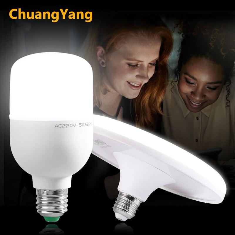 UFO lampe à LED économiseur d'énergie lumière LED 220V 230V 240V SMD2835 LED ampoule E27 15W 20W 30W 40W 50W 60W Lampada lumière LED s pour la maison