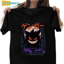 Женская футболка в японском стиле gengar kaiju из 100% хлопка