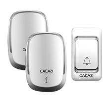 Звонок дверной CACAZI беспроводной, 200 м, 4 громкости, 36 сигналов
