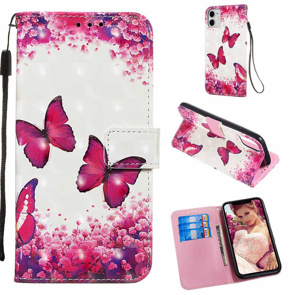 Dziewczyna śliczne etui na telefon z klapką do torby LG Stylus 4 Q Stylus K8 2018 Stylus4 kucyk sowa stojak portfel Case dzieci Capa Butterfly Box O03E