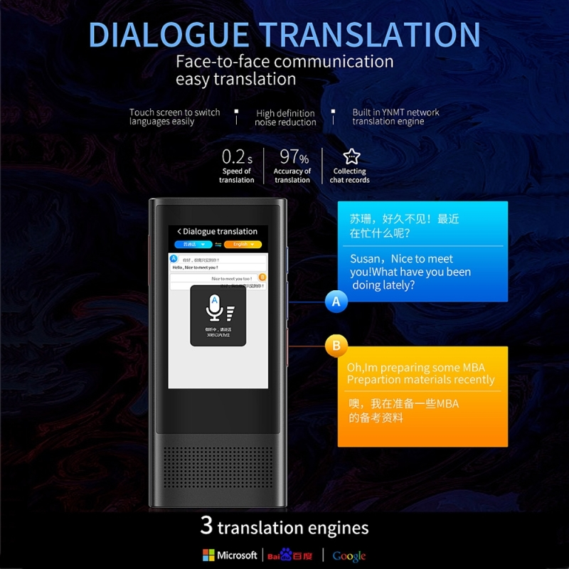 BOELEO W1 3.0 Smart Voice Pocket Language Translator for Business and Travel with 1GB RAM and 8GB ROM Supports 117 Languages along with 2.8 inch Screen 10