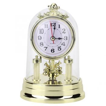 Zegar europejski styl retro zegar zegar pokojowy antyczny cichy zegar na biurko biuro budzik zegar dekoracyjny do domu tanie i dobre opinie TOPINCN Z tworzywa sztucznego Antique style Table Clock Stoper Chiming godzinowe Igła 6 cal Europa circular Zegary biurkowe