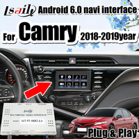 Lsailt Android GPS Navigation Box for 2018 Camry Toyota Panasonic Pioneer model Integrated multimedia interface support carplay