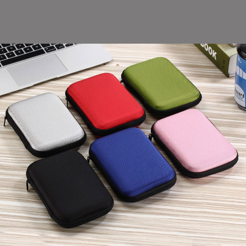 Mobile Hard Disk Storage Bag 2.5 Inch Seagate Mobile Hard Disk Box Shockproof Protection Package Data Cable Storage Box