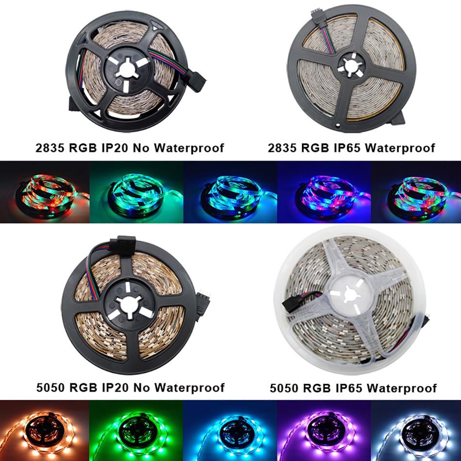 Bluetooth LED Strip Light RGB 2835 SMD 5050 Flexible Ribbon Waterproof RGB LED Light 5M 10M 15M Tape Diode 12V Bluetooth Control (1)
